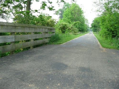 The Bike Path was in very good condition around Yellow Springs