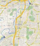 Friend Park to Stewart St Map